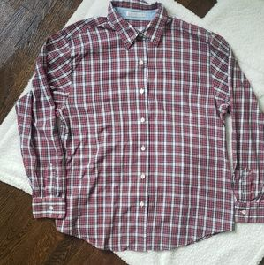 Foxcroft Red Plaid Button Down Size 14